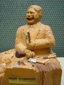 The old stump part four of carving the caricature face